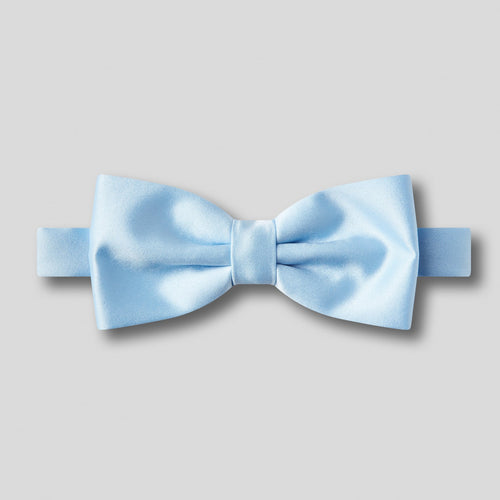 Folkespeare Light Blue Plain Satin Classic Bow Tie