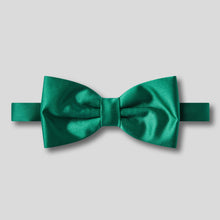 Load image into Gallery viewer, Folkespeare Forest Green Plain Satin Classic Bow Tie