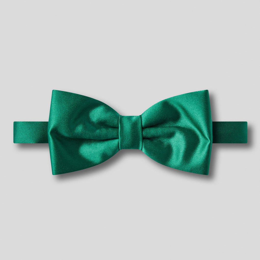 Folkespeare Forest Green Plain Satin Classic Bow Tie