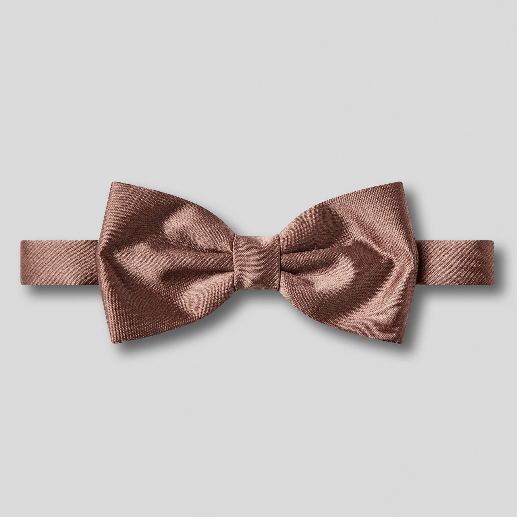 Folkespeare Mid Brown Plain Satin Classic Bow Tie