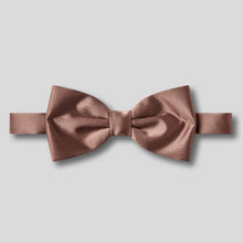 Load image into Gallery viewer, Folkespeare Mid Brown Plain Satin Classic Bow Tie