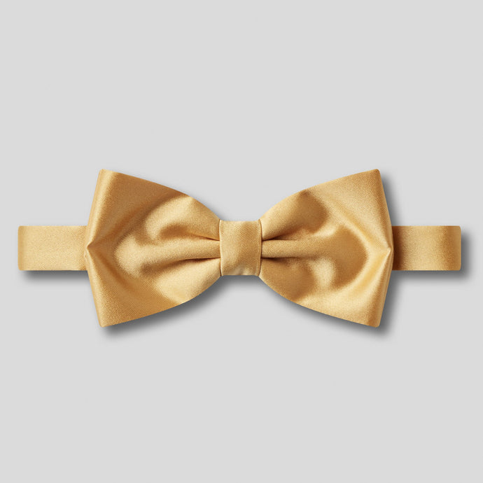 Folkespeare Gold Plain Satin Classic Bow Tie