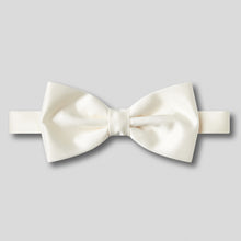 Load image into Gallery viewer, Folkespeare Ivory Satin Classic Bow Tie