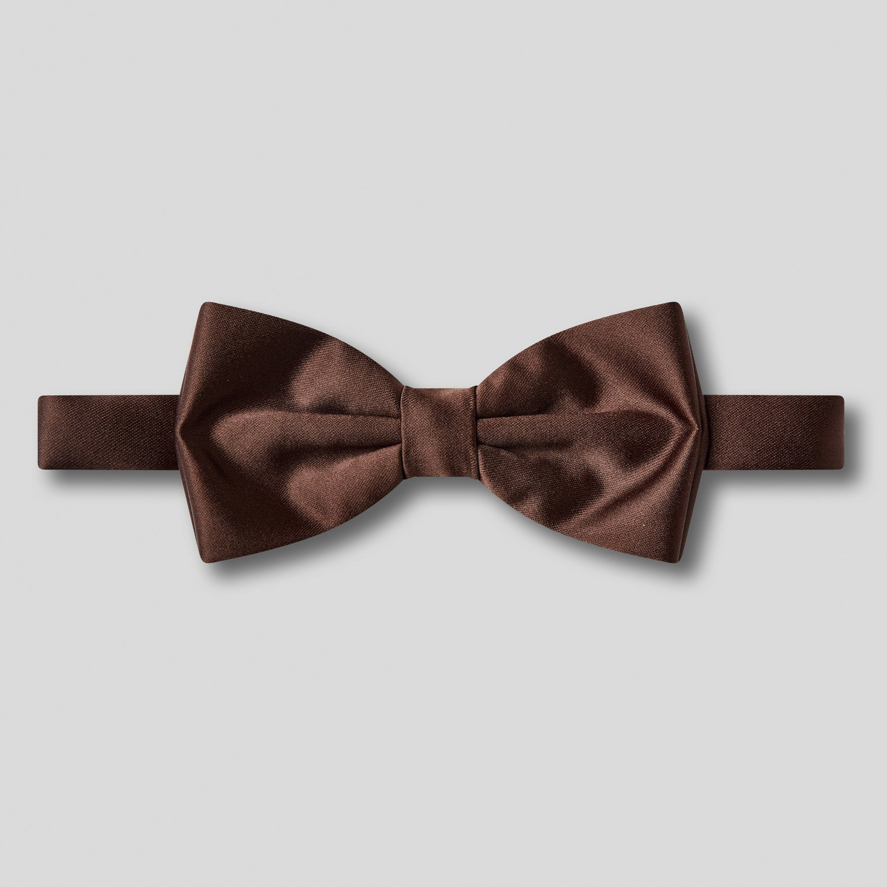 Folkespeare Chocolate Satin Classic Bow Tie