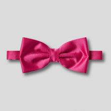 Load image into Gallery viewer, Folkespeare Cerise Plain Satin Classic Bow Tie