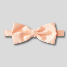 Load image into Gallery viewer, Folkespeare Peach Plain Satin Classic Bow Tie