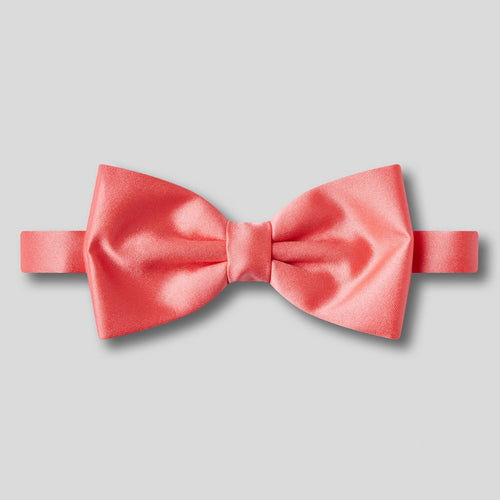 Folkespeare Coral Plain Satin Classic Bow Tie
