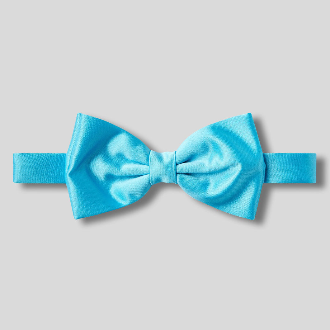 Folkespeare Turquoise Plain Satin Classic Bow Tie