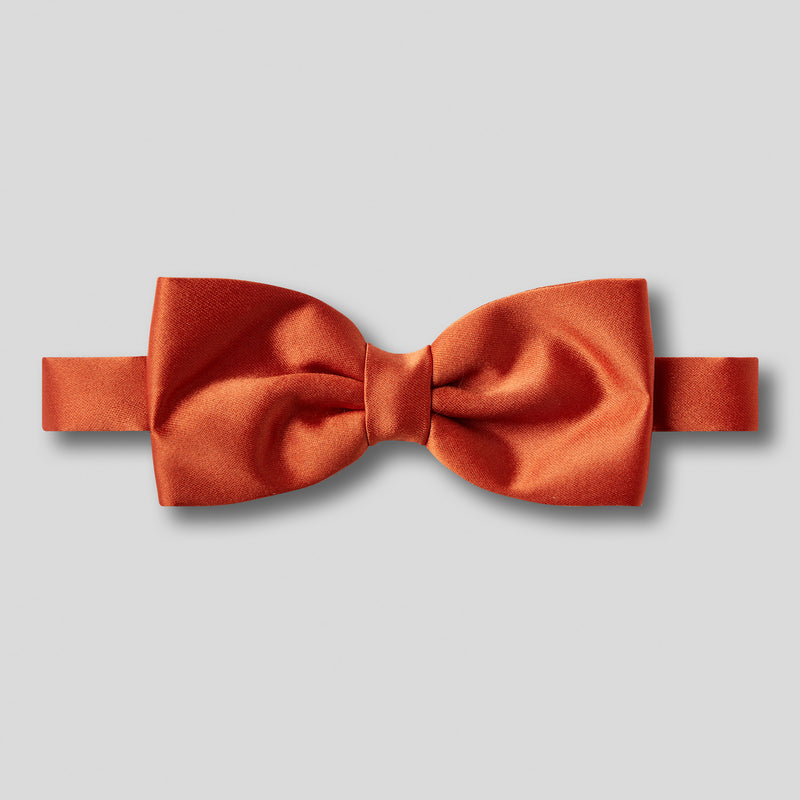 Folkespeare Rust Satin Classic Bow Tie