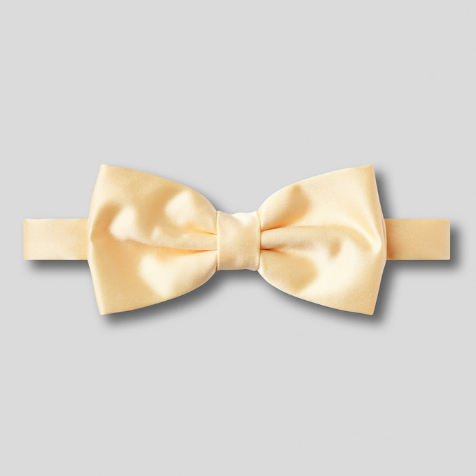Folkespeare Lemon Plain Satin Classic Bow Tie