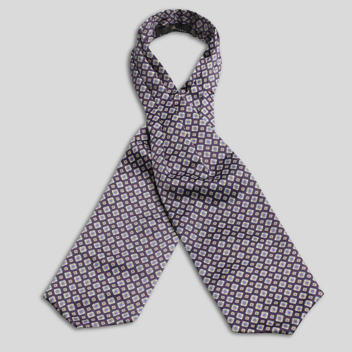CP0704-01-Folkespeare-Purple-Satin-Patterned-Cravat-1