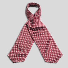 Load image into Gallery viewer, Folkespeare Burgundy And White Satin Patterned Cravat