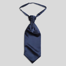 Load image into Gallery viewer, Folkespeare French Navy Satin Scrunchie Cravat