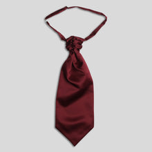 Load image into Gallery viewer, Folkespeare Burgundy Satin Scrunchie Cravat