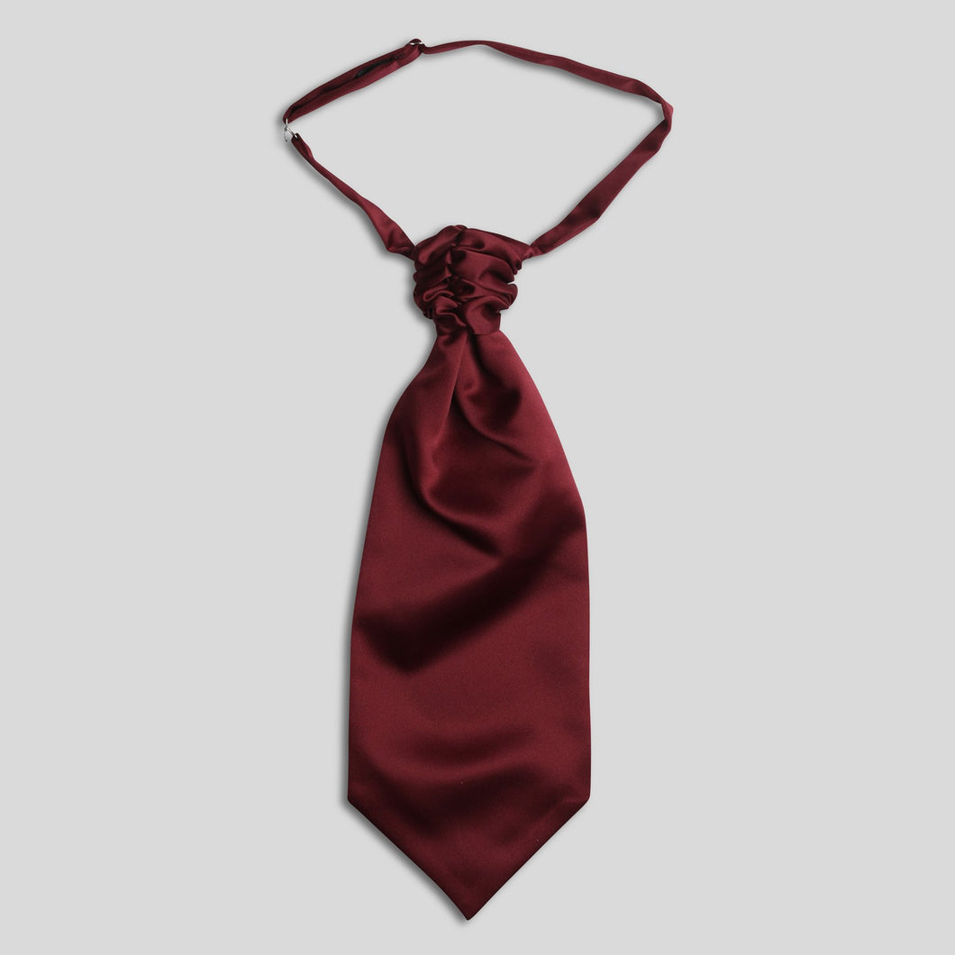 Folkespeare Burgundy Satin Scrunchie Cravat