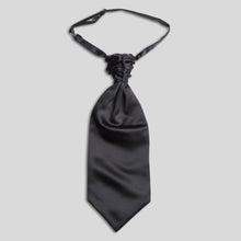 Load image into Gallery viewer, Folkespeare Dark Grey Satin Scrunchie Cravat