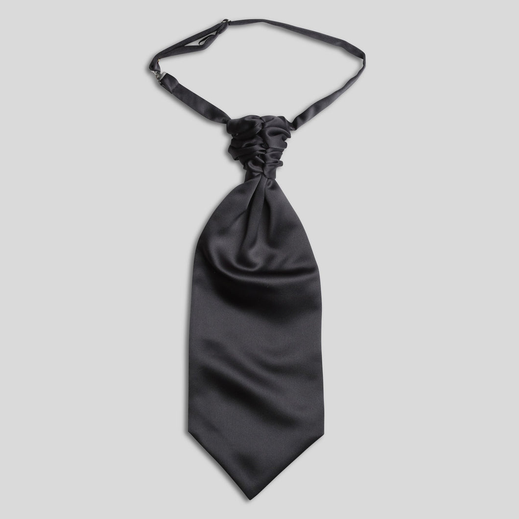 Folkespeare Dark Grey Satin Scrunchie Cravat