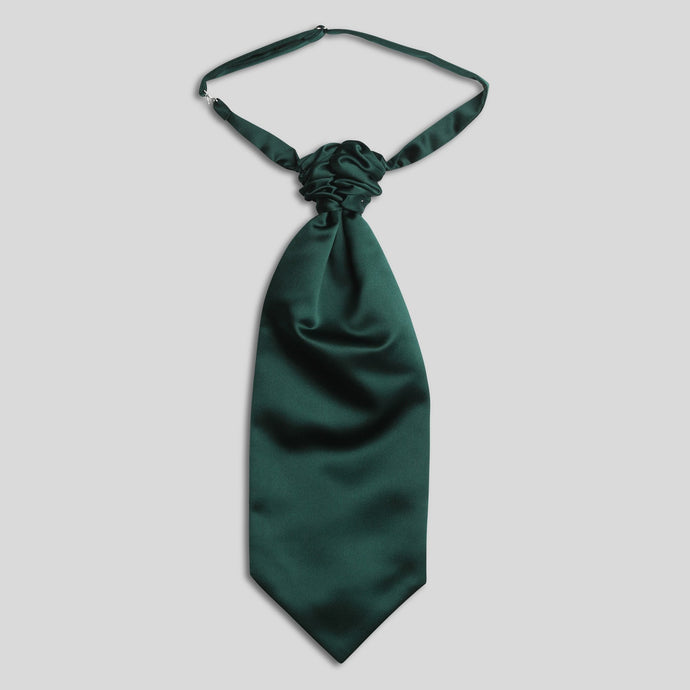 Folkespeare Bottle Green Satin Scrunchie Cravat