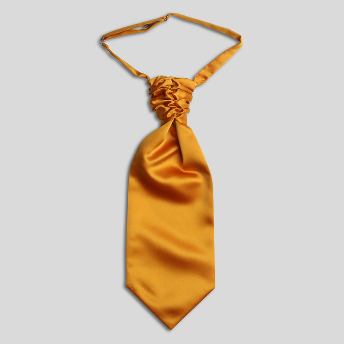 Folkespeare Burnt Orange Satin Scrunchie Cravat