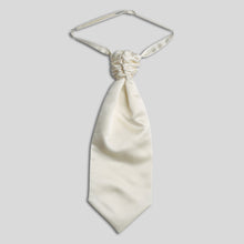 Load image into Gallery viewer, Folkespeare Ivory Satin Scrunchie Cravat