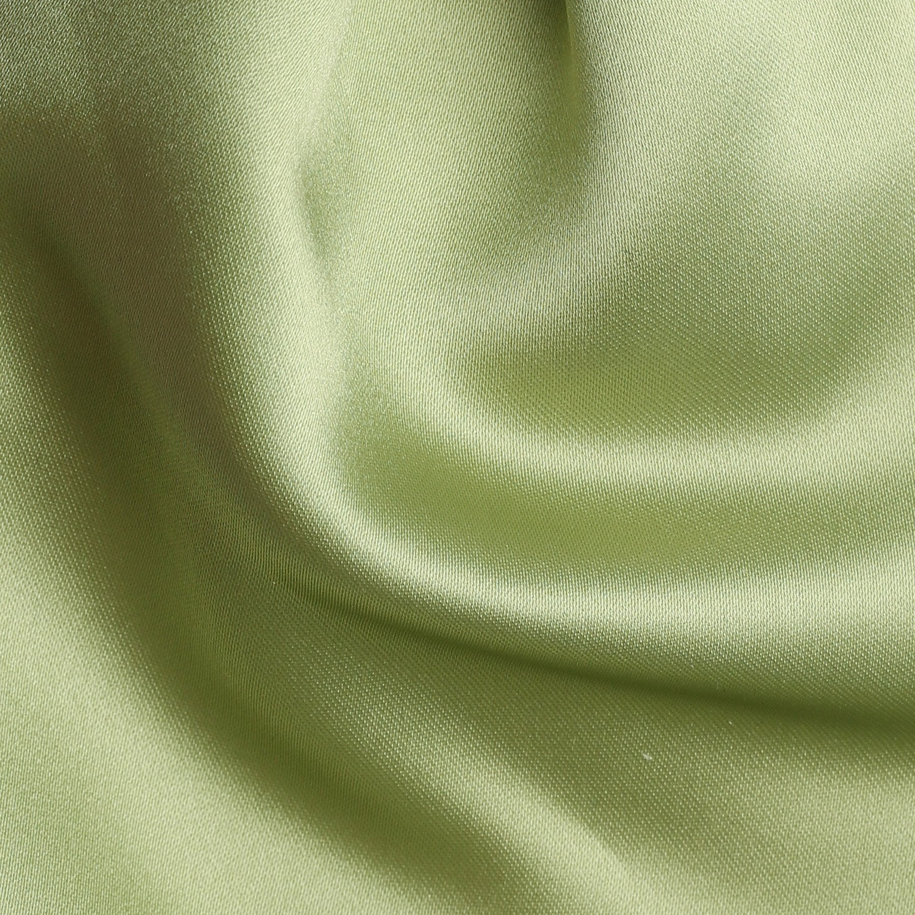 Folkespeare Avocado Satin Scrunchie Cravat Fabric