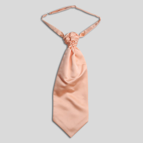 Folkespeare Peach Satin Scrunchie Cravat