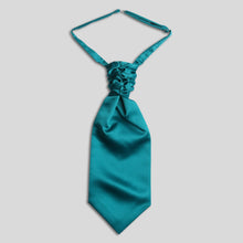 Load image into Gallery viewer, Folkespeare Teal Satin Scrunchie Cravat