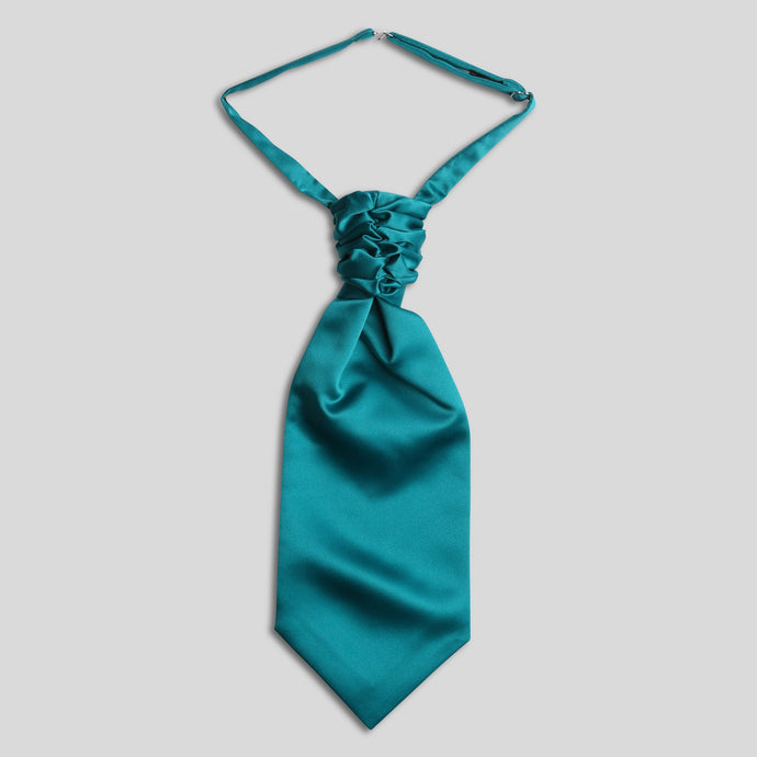 Folkespeare Teal Satin Scrunchie Cravat