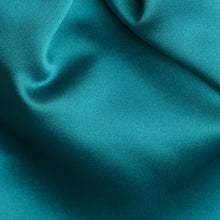 Load image into Gallery viewer, Folkespeare Teal Satin Scrunchie Cravat Fabric