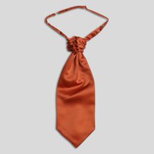 Load image into Gallery viewer, Folkespeare Rust Satin Scrunchie Cravat