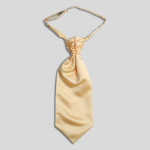 Load image into Gallery viewer, Folkespeare Lemon Satin Scrunchie Cravat