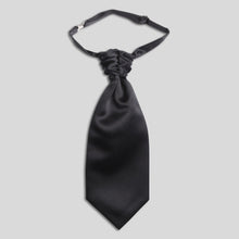 Load image into Gallery viewer, CS0030B-01-Folkespeare-Boys-Black-Satin-Scrunchie-Cravat-1