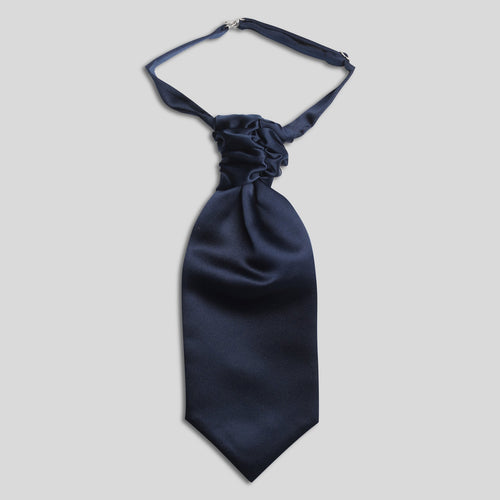 Folkespeare Boys Navy Satin Scrunchie Cravat