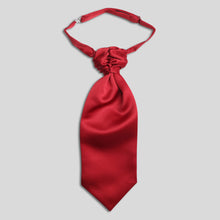 Load image into Gallery viewer, Folkespeare Boys Wine Satin Scrunchie Cravat