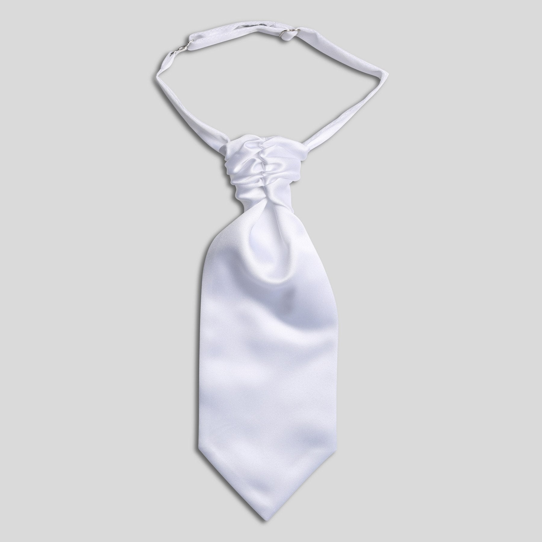 Folkespeare Boys White Satin Scrunchie Cravat