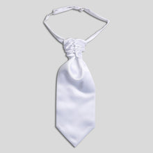 Load image into Gallery viewer, Folkespeare Boys White Satin Scrunchie Cravat