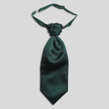Load image into Gallery viewer, Folkespeare Boys Bottle Green Satin Scrunchie Cravat