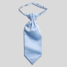 Load image into Gallery viewer, CS0030B-22-Folkespeare-Boys-Light-Blue-Satin-Scrunchie-Cravat-1