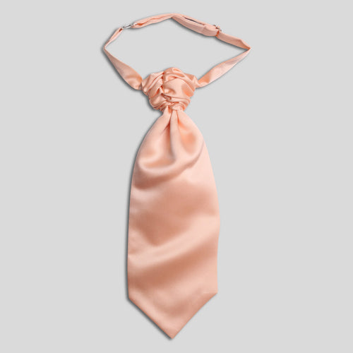 Folkespeare Boys Peach Satin Scrunchie Cravat