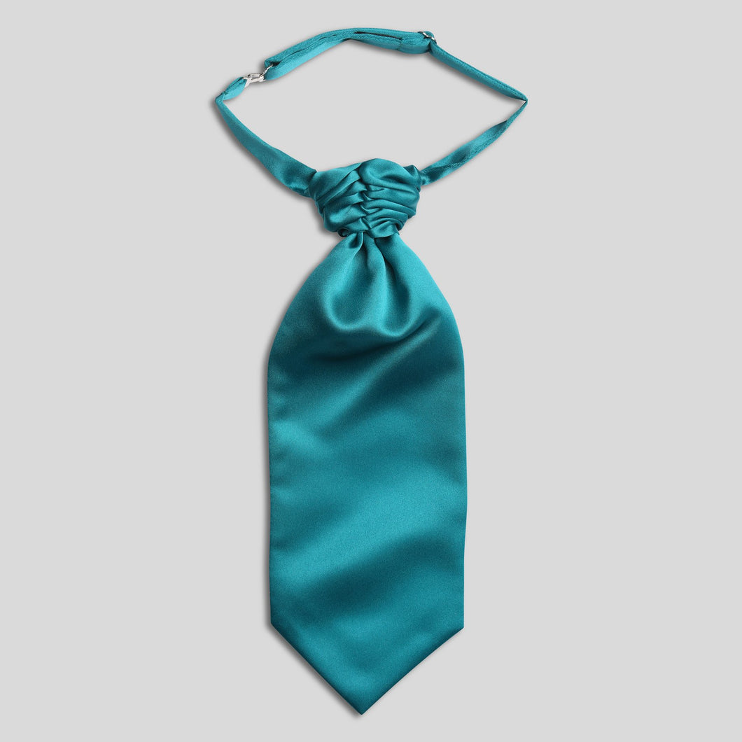 CS0030B-51-Folkespeare-Boys-Teal-Satin-Scrunchie-Cravat-1