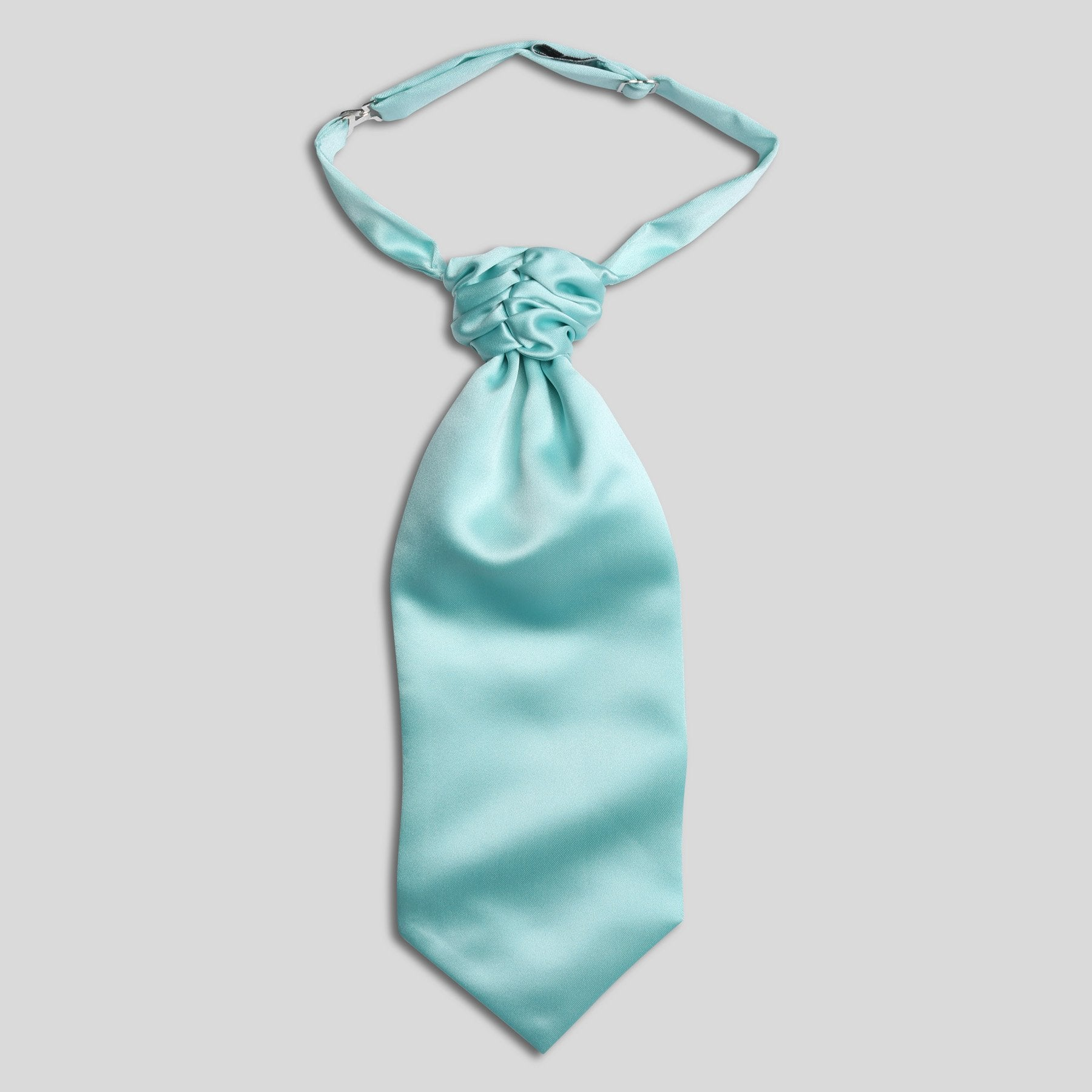 Folkespeare Boys Aqua Satin Scrunchie Cravat