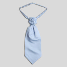Load image into Gallery viewer, CS4440-07-Folkespeare-Light-Blue-Slub-Srunchie-Cravat-1