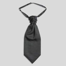 Load image into Gallery viewer, Folkespeare Charcoal Slub Scrunchie Cravat