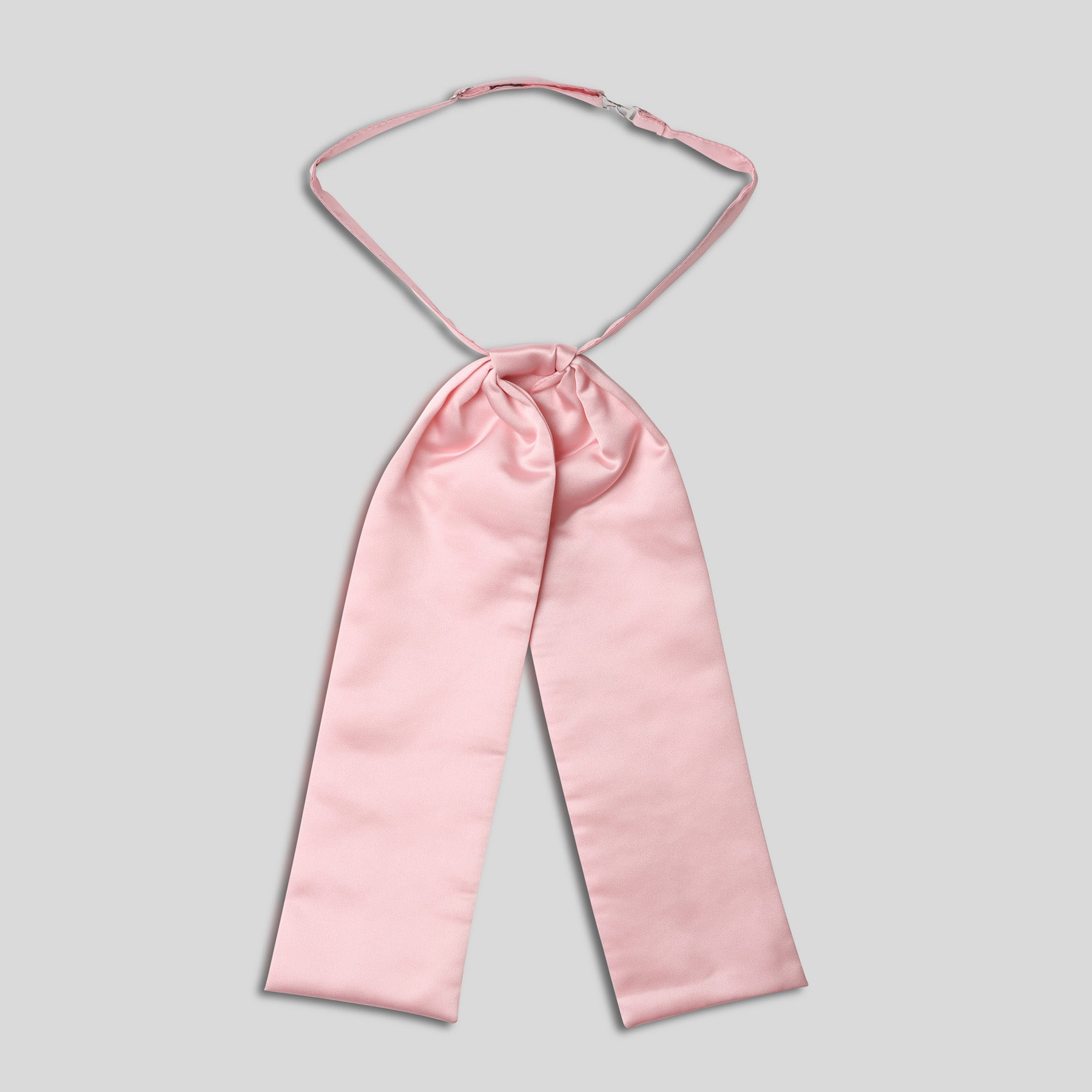 Folkespeare Pink Satin Wedding Cravat With A Pearl Pin