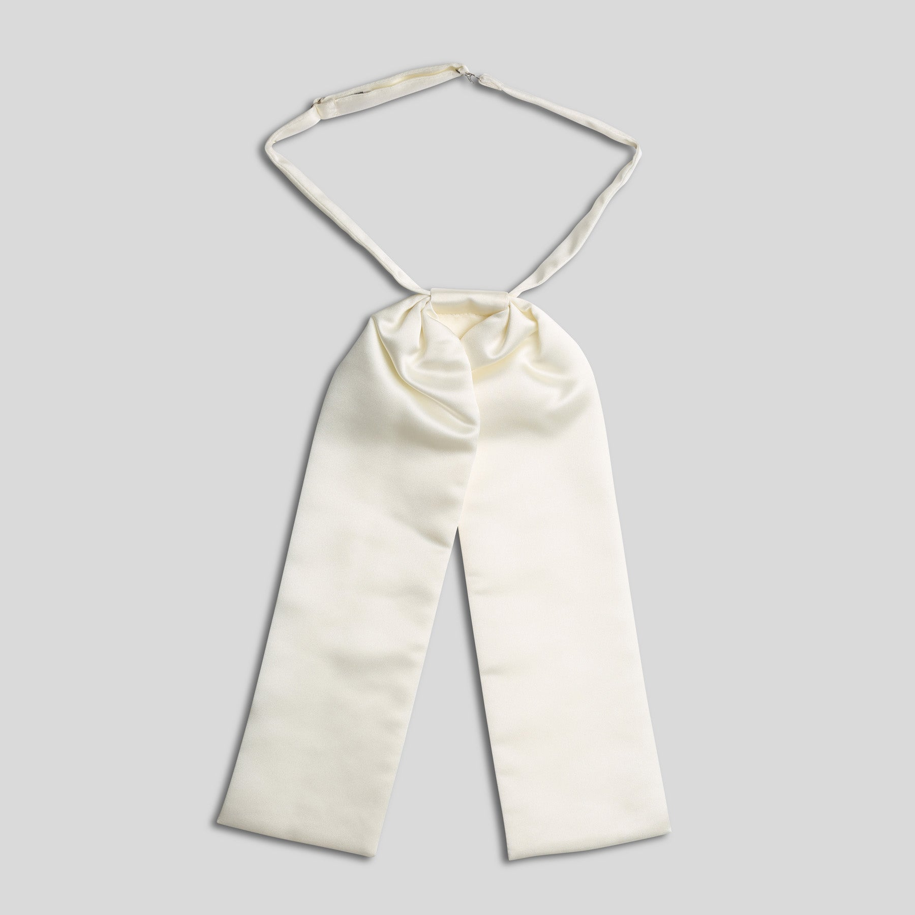 Folkespeare Ivory Satin Swatch Wedding Cravat With Pearl Pin