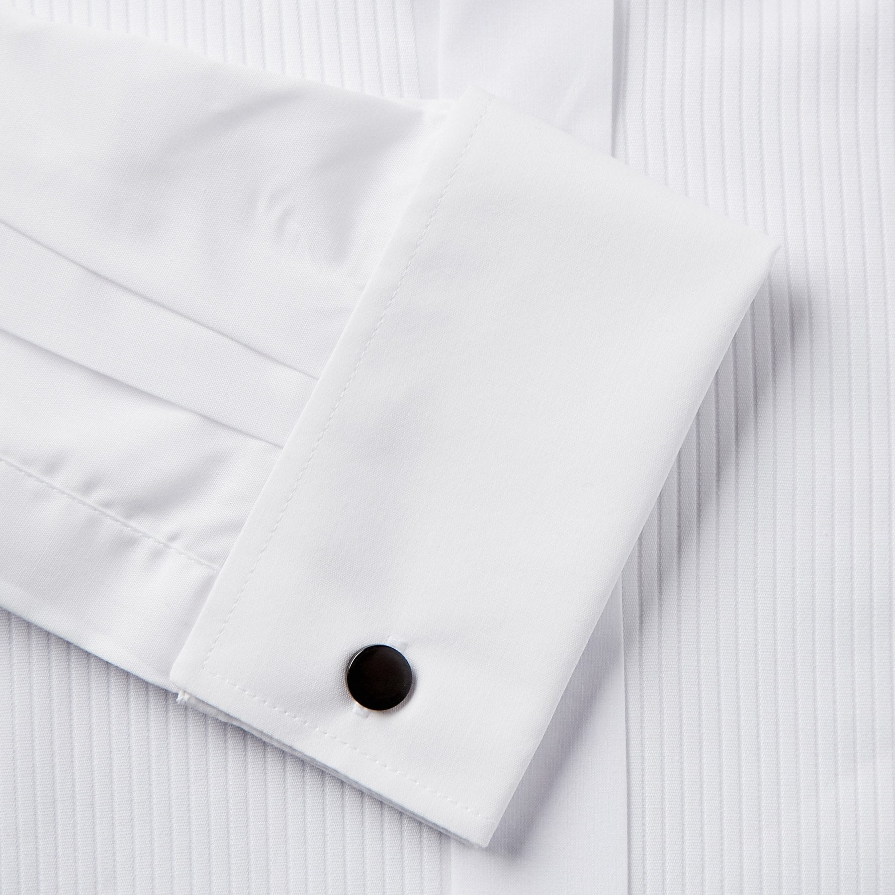 Rael Brook Classic Fit White Full Front Pleat Dress Shirt Fabric