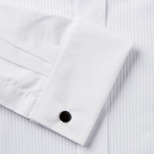 Load image into Gallery viewer, Rael Brook Classic Fit White Full Front Pleat Dress Shirt Fabric