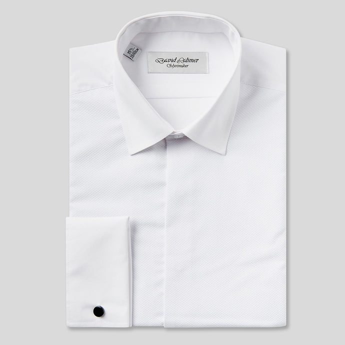 Rael Brook Classic Fit White Marcella Fly Front Dress Shirt