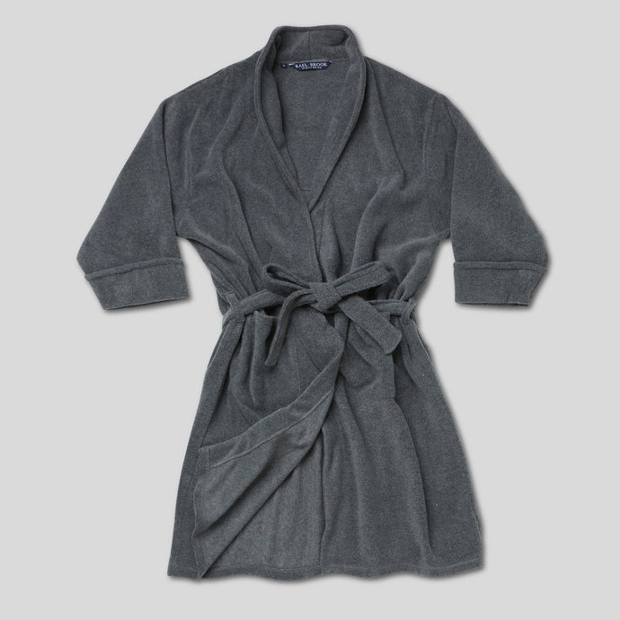 Rael Brook Grey Brushed Dressing Gown