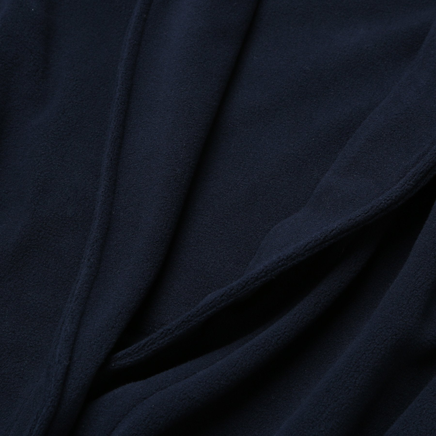 Rael Brook Navy Brushed Dressing Gown Neck Detail